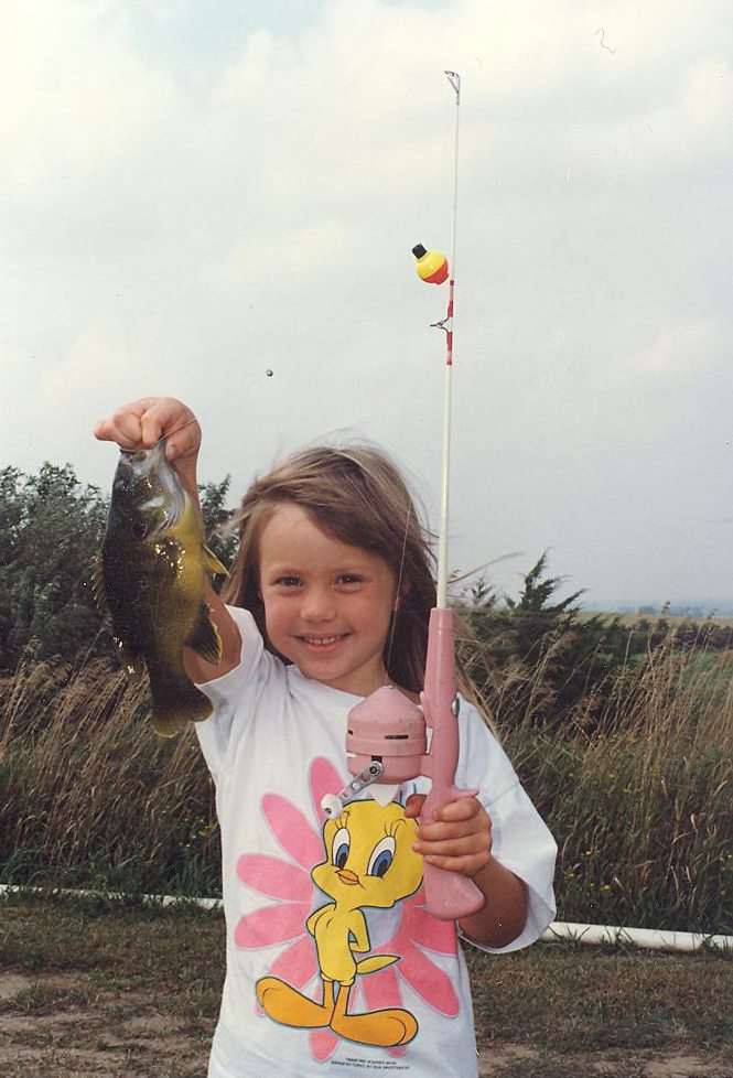 Cassie @ 5 with Sunfish