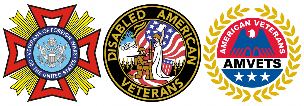 Veterans of Foreign Wars, Disabled American Veterans, AMVets