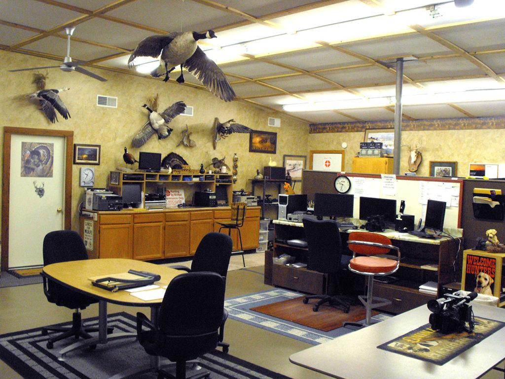 Office center of room