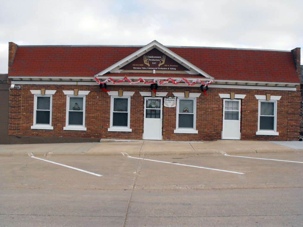 Office front of the building