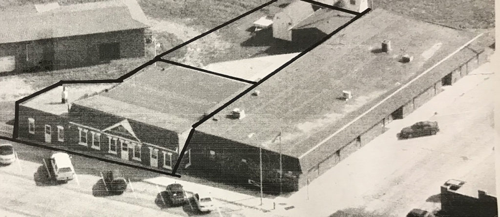 Aerial photo of Outdoorsmen Productions offices